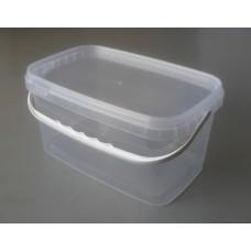 Дно контейнера 3,3/250 прозрачное с ручкой белой, шт