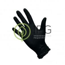 Перчатки нитриловые, черные, размер L, 100шт в уп., AVIORA, упак