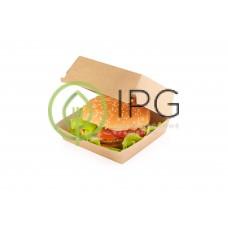 Бургер бокс BURGERM 100/115*100/115*60 мм, крафт картон