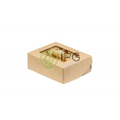 Ланч бокс самосборный 300 мл SELFBOX300 100*80*35 мм, крафт картон
