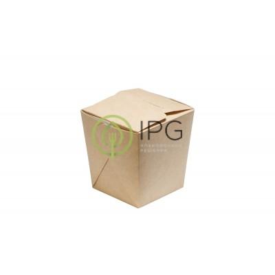 Коробка для WOKa 460 мл WOK460 80/102*66/89*102 мм, крафт картон СКЛЕЕННАЯ