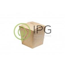 Коробка для WOKa 560 мл WOK560 75/97*75/97*100 мм, крафт картон СКЛЕЕННАЯ