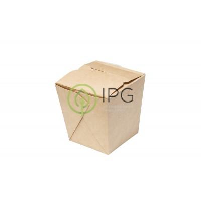 Коробка для WOKa 700 мл WOK700 81/101*81/101*106 мм, крафт картон СКЛЕЕННАЯ