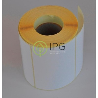 Термотрансферные этикетки полуглянец 58х30 без печати (900 штук в рулоне)