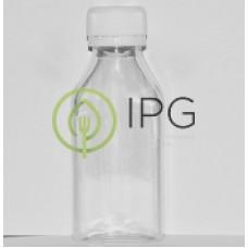 Бутылка прозрачная с белой крышкой 100мл, d-28мм